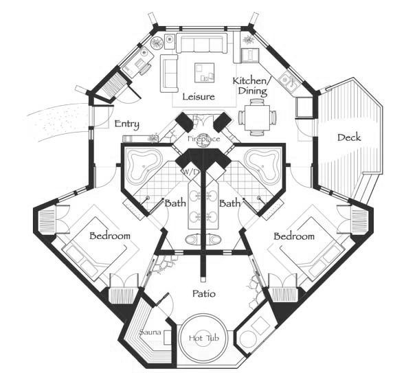 Nakoma Residence Club Two Bedroom Floor Plan
