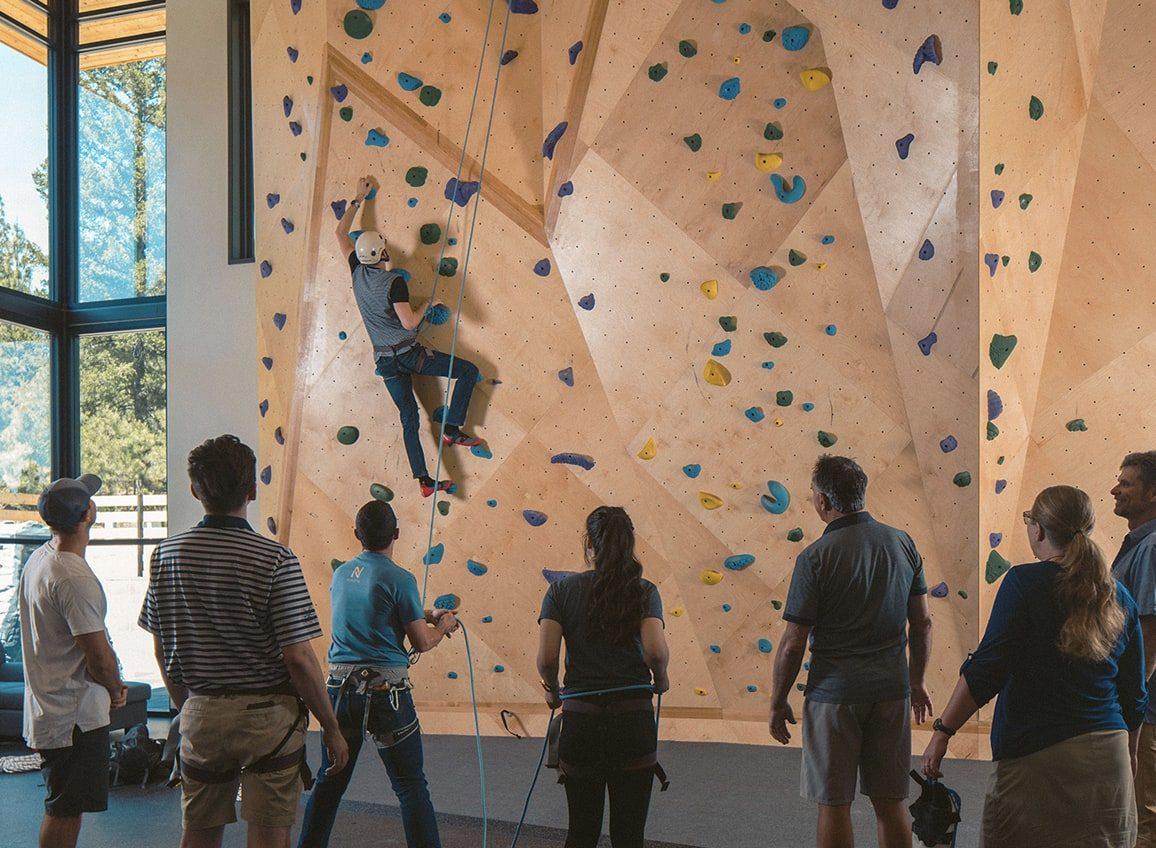 rock climbing wall at nakoma